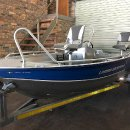 Linder aluminium boat with two fishing seats